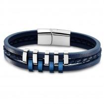 Lotus Style Armband Herren Edelstahl silber, blau LS1838-2/2 Urban JLS1838-2-2