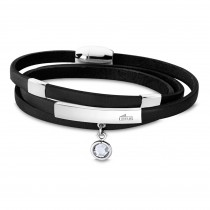 LOTUS Style Armband LS1961-2/3 Damen Leder gewickelt schwarz Urban JLS1961-2-3