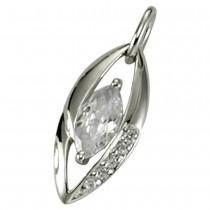 KISMA Schmuck Anhänger für Ketten weiß Sterling Silber 925 KIH0107-018
