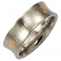 KISMA Schmuck Ring Gr. 58 Edelstahl forever Love KIR0127-017-58