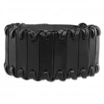 SilberDream Lederarmband Riemchen schwarz Damen Armband LA0025S