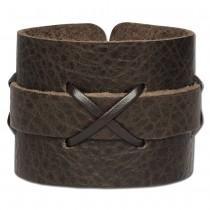 SilberDream Lederarmband braun Herren Leder Armband LA4071B