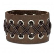 SilberDream Lederarmband braun-antik Herren Kordel-Leder Armband LA5353B