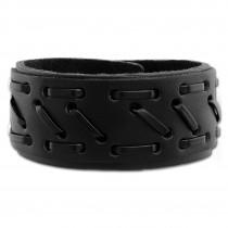 SilberDream Lederarmband schwarz Zierband Leder Armband LA5656S
