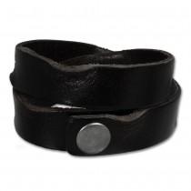 SilberDream Lederarmband schwarz used look Leder Armband LAP518S