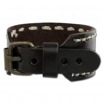 SilberDream Lederarmband braun Schnallenverschluß unisex Leder Armband LAP526B