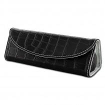 SilberDream Reiseschmuckbox Leder schwarz Schmuckbox dreieckig LB173S