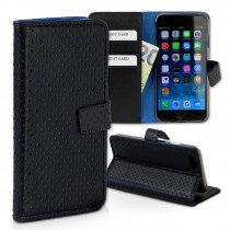 Handyhülle iPhone 6 6S blau Bookstyle Kartenfächer DrachenLeder OME104B