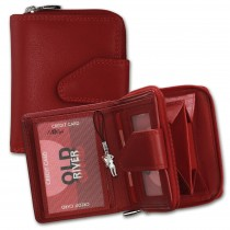 Bag Street Geldbörse rot Damen Portemonnaie Leder OPD104R