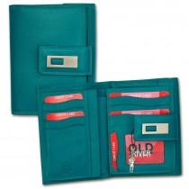 Geldbörse Leder blau XL Brieftasche Portemonnaie Old River OPD701B