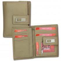 Old River Geldbörse Echt-Leder taupe, braun XL Brieftasche Portemonnaie OPD701C
