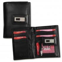 Old River Geldbörse echtes Leder schwarz XL Brieftasche Portemonnaie OPD701F