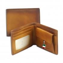 Florence Vintage Portemonnaie Echtleder Geldbörse cognac Brieftasche OPF100C