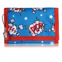 Bestway Kindergeldbörse blau rot mit Comic Motiv Plop Polyester OPI100R