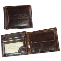 Harolds Geldbörse echtes Leder braun glatt Portemonnaie Brieftasche OPJ102N