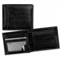 Wild Things Only Geldbörse Echt-Leder schwarz RFID Schutz Brieftasche OPJ102S