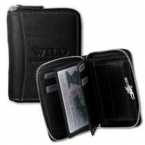 Wild Things Only Geldbörse schwarz Echtleder Portemonnaie RFID Schutz OPJ108S