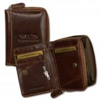 Wild Things Only Geldbörse echtes Leder braun RFID Schutz Minibörse OPJ111N