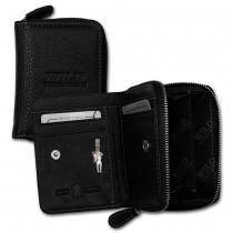 Wild Things Only Geldbörse echtes Leder schwarz RFID Schutz Minibörse OPJ111S