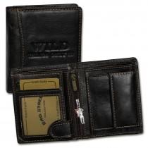 Geldbörse Leder braun Portemonnaie klein Brieftasche Wild Things Only OPJ115N