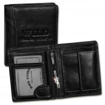 Wild Things Only Geldbörse Leder schwarz RFID Schutz klein Brieftasche OPJ115S