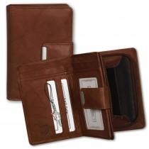 Money Maker Geldbörse Echt-Leder chianti rust Portemonnaie RFID Schutz OPJ701O