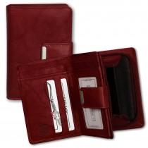 Geldbörse Leder rot Brieftasche Portemonnaie Hochformat Money Maker OPJ701R
