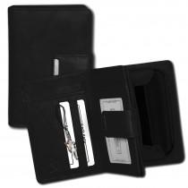 Money Maker Geldbörse Echtleder schwarz Damen Portemonnaie RFID Schutz OPJ701S