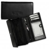Money Maker Geldbörse schwarz Portemonnaie echtes Leder OPJ703S
