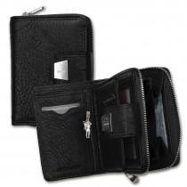 Geldbörse Leder schwarz Portemonnaie Hochformat Jennifer Jones OPJ708S