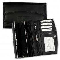 Money Maker Geldbörse Leder schwarz Portemonnaie RFID Schutz Börse OPJ719S
