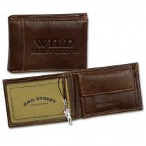 Wild Things Only Geldbörse echtes Leder braun Minibörse Portemonnaie OPJ800N