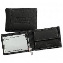 Geldbörse Leder schwarz Portemonnaie Minibörse DrachenLeder OPJ800S