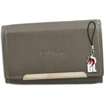 DrachenLeder Damen Geldbörse Echtleder grau RFID Schutz Geldbeutel OPR702K