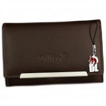 DrachenLeder Damen Geldbörse Echtleder braun RFID Schutz Geldbeutel OPR702N