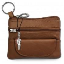 DrachenLeder Schlüsseltasche braun Echtleder Minibörse Schlüsseletui OPR800F