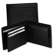 DrachenLeder Herren Leder Portemonnaie schwarz Brieftasche OPS106S