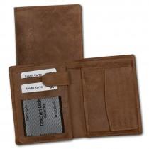 DrachenLeder Antikleder Portemonnaie braun Börse Brieftasche OPS108N