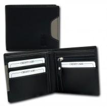 DrachenLeder Geldbörse schwarz Echtleder Portemonnaie Brieftasche Herren OPT002S