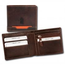 DrachenLeder Geldbörse braun Echtleder Portemonnaie Brieftasche Herren OPT021N
