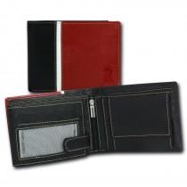 DrachenLeder Geldbörse schwarz Echtleder Portemonnaie Brieftasche Herren OPT041R