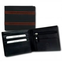 DrachenLeder Geldbörse dunkelblau Nappa-Leder Portemonnaie Brieftasche Herren OPT061B