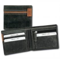 DrachenLeder Vintage Geldbörse grau, braun Echtleder Portemonnaie Brieftasche Herren OPT081K