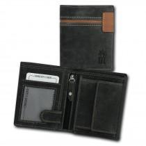 DrachenLeder Vintage Geldbörse grau, braun Echtleder Portemonnaie Brieftasche Herren OPT082K