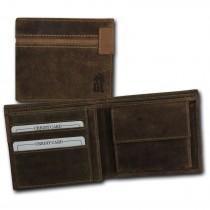 DrachenLeder Vintage Geldbörse braun Echtleder Portemonnaie Brieftasche Herren OPT083N