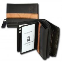 DrachenLeder Geldbörse schwarz braun Leder Portemonnaie Brieftasche OPZ100C