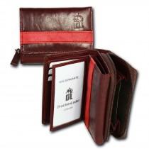 DrachenLeder Geldbörse dunkelrot, rot Leder Portemonnaie Brieftasche OPZ100V