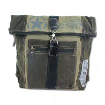 Sunsa Damen Canvas Rucksack Backpack Ranzen Daypack Tasche grau schwarz ORA200K