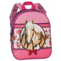 Fabrizio Kindergartenrucksack Mädchen mit Pferdemotiv,Fohlen pink Blumen ORI212P