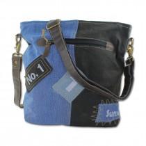 Sunsa Damen Canvas Schultertasche Jeans blau Umhängetasche Tasche OTA209B